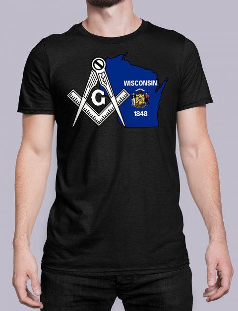Wisconsin Masonic Tee Wisconsin black shirt
