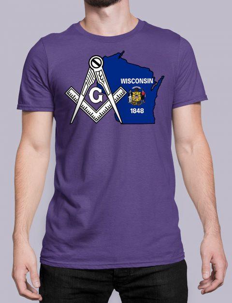 Wisconsin Masonic Tee Wisconsin purple shirt