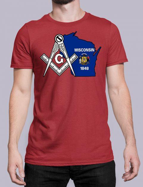 Wisconsin Masonic Tee Wisconsin red shirt