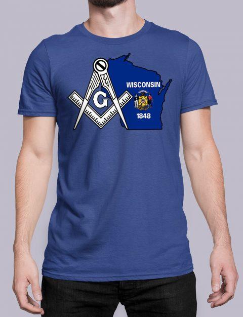 Wisconsin Masonic Tee Wisconsin royal shirt