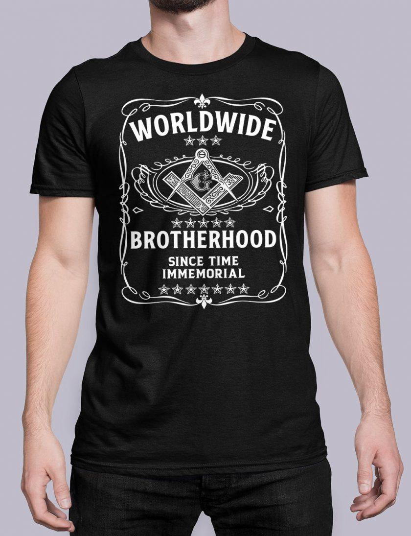 Worldwide Brotherhood Masonic black shirt 43