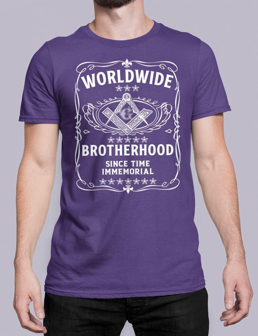 Worldwide Brotherhood Masonic purple shirt 43