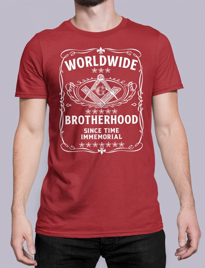 Worldwide Brotherhood Masonic red shirt 43