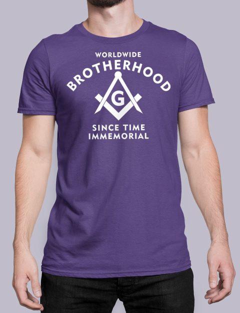 Worldwide Brotherhood Masonic T-shirt WorldwideBrotherhood purple shirt 44