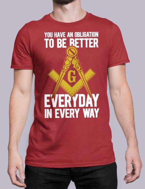 You Have An Obligation Masonic T-Shirt You Have An Obligation red shirt 45