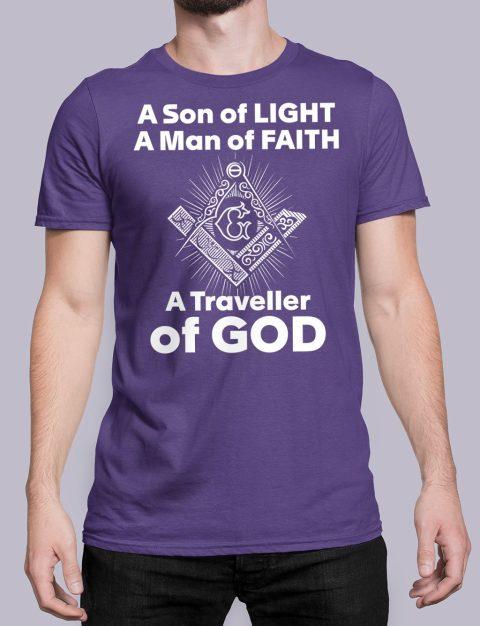 A Son of Light T-Shirt a son of light purple shirt