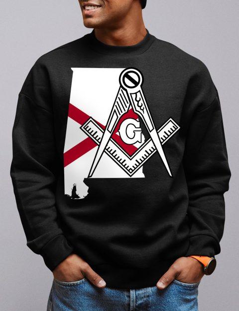 Alabama Masonic Sweatshirt alabama black sweatshirt
