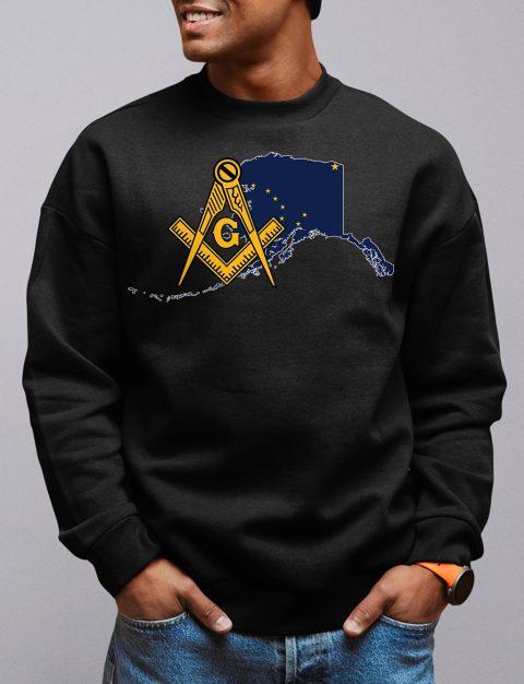 Alaska Masonic Sweatshirt alaska black sweatshirt