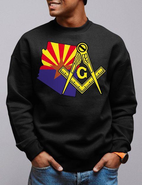 Arizona Masonic Sweatshirt arizona black sweatshirt
