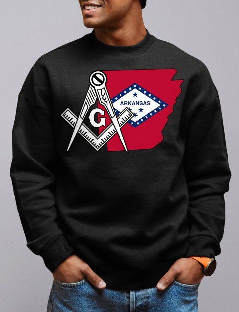 Arkansas Masonic Sweatshirt arkansas black sweatshirt