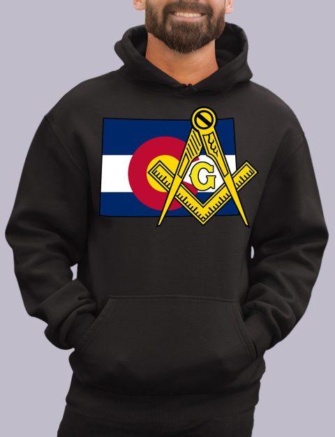 Colorado Masonic Hoodie colorado black hoodie
