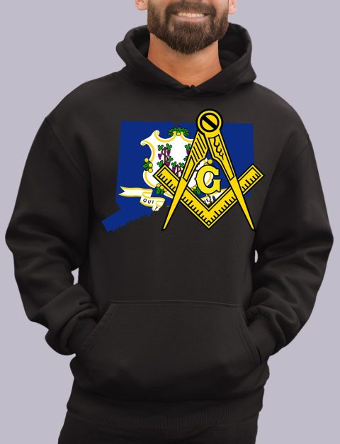 Connecticut Masonic Hoodie conecticut black hoodie