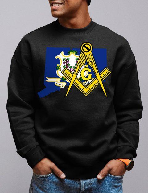 Connecticut Masonic Sweatshirt connecticut black sweatshirt