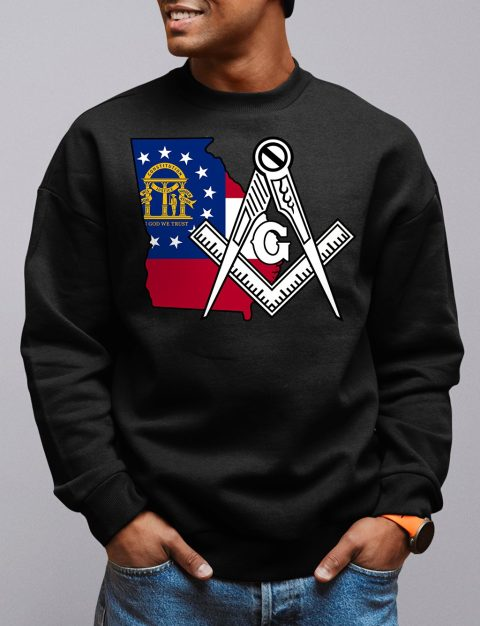 Georgia Masonic Sweatshirt georgia black sweatshirt