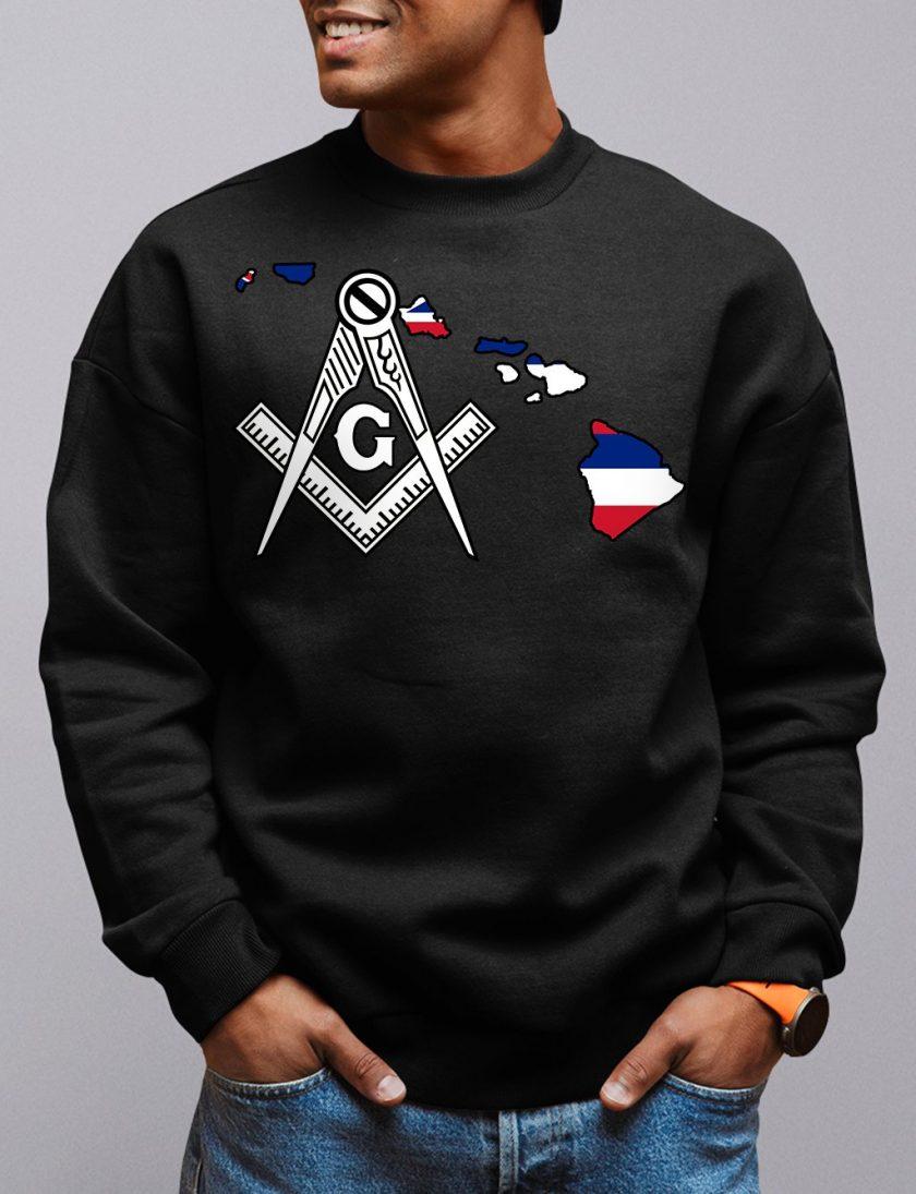 Hawaii Masonic Sweatshirt hawaii black sweatshirt