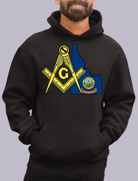 Idaho Masonic Hoodie idaho black hoodie