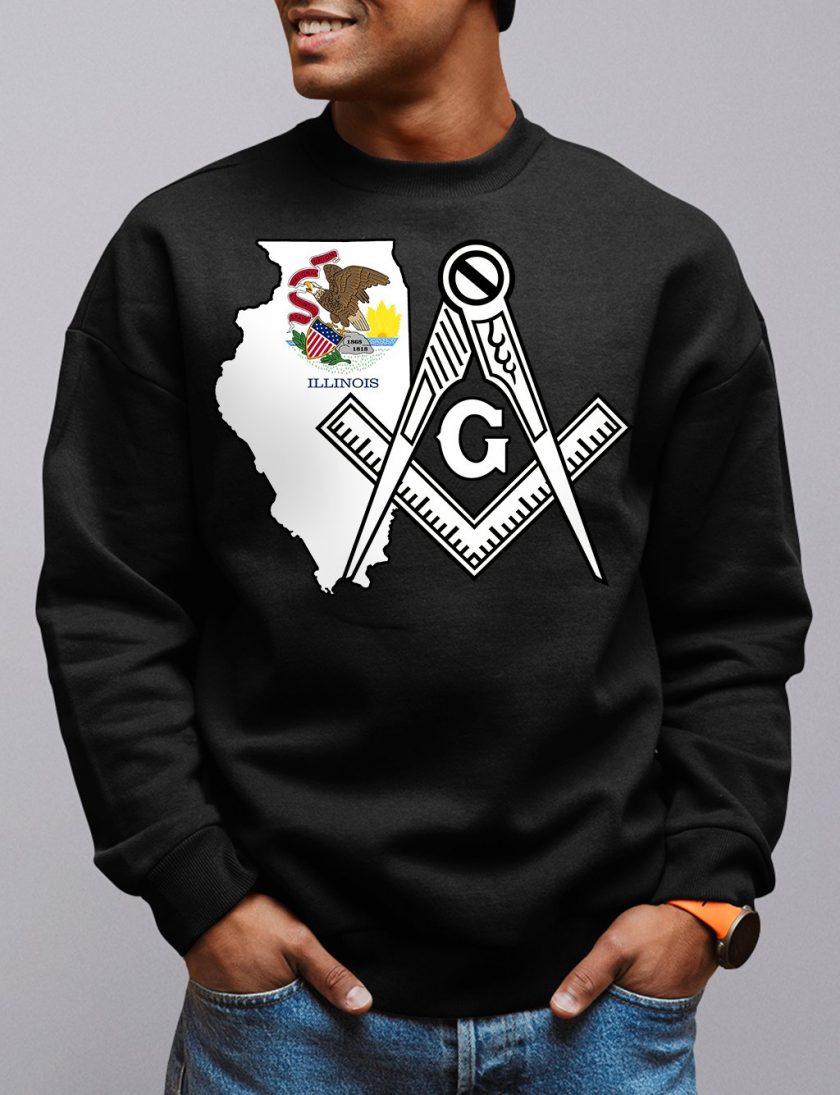 illinois black sweatshirt