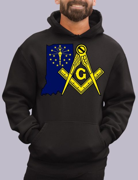 Indiana Masonic Hoodie indiana black hoodie