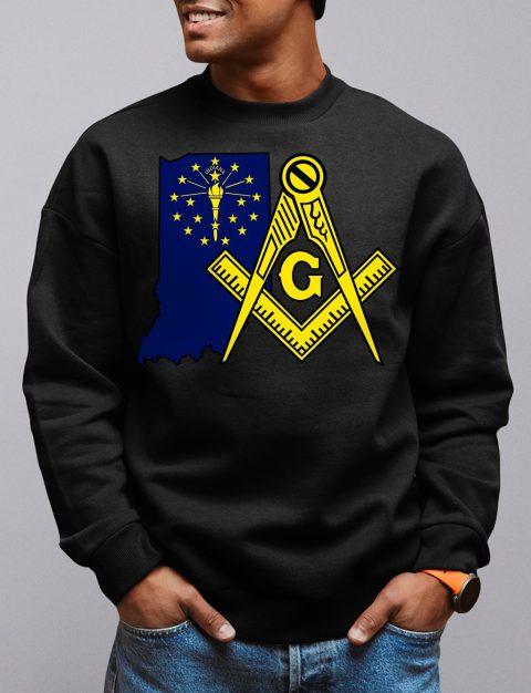Indiana Masonic Sweatshirt indiana black sweatshirt