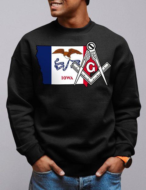 Iowa Masonic Sweatshirt iowa black sweatshirt