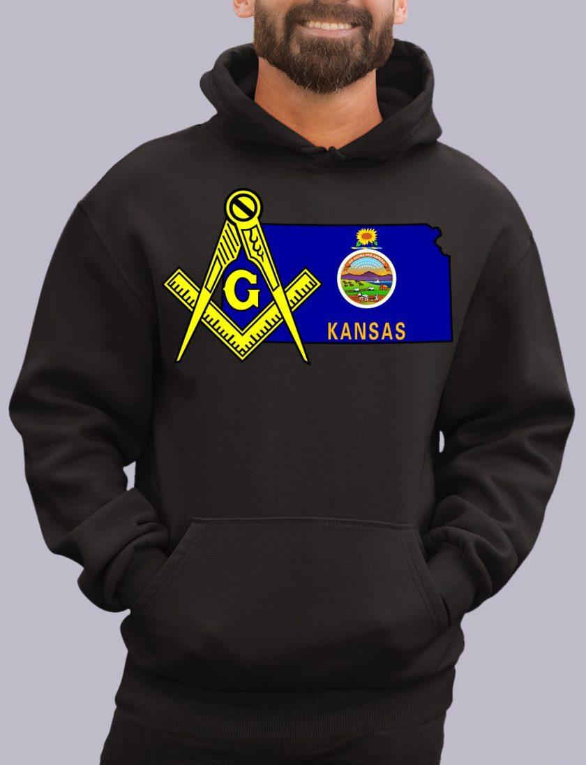 kansas black hoodie