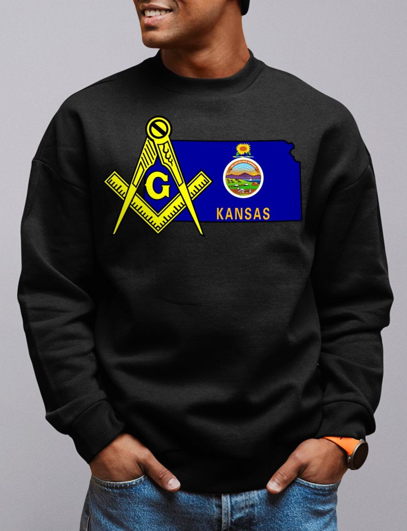 Kansas Masonic Sweatshirt kansas black sweatshirt