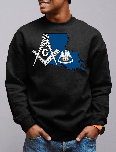 Louisiana Masonic Sweatshirt louisiana black sweatshirt