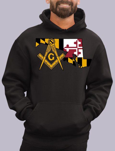 Maryland Masonic Hoodie maryland black hoodie
