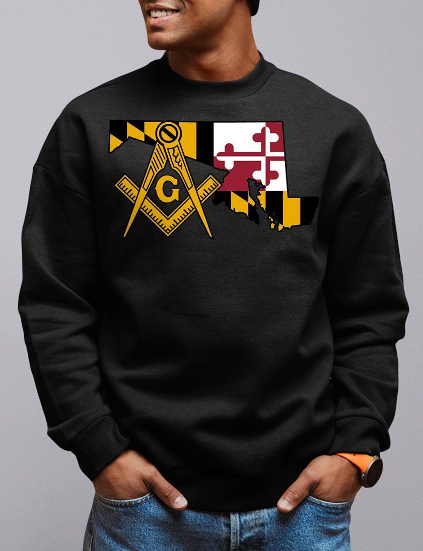 maryland black sweatshirt