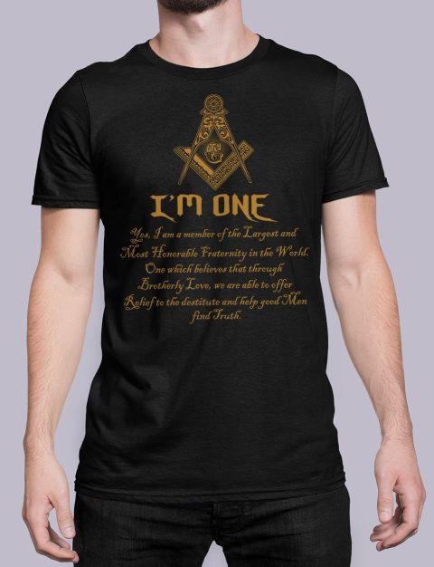 I Am One Masonic T-Shirt mason i am one black shirt 21