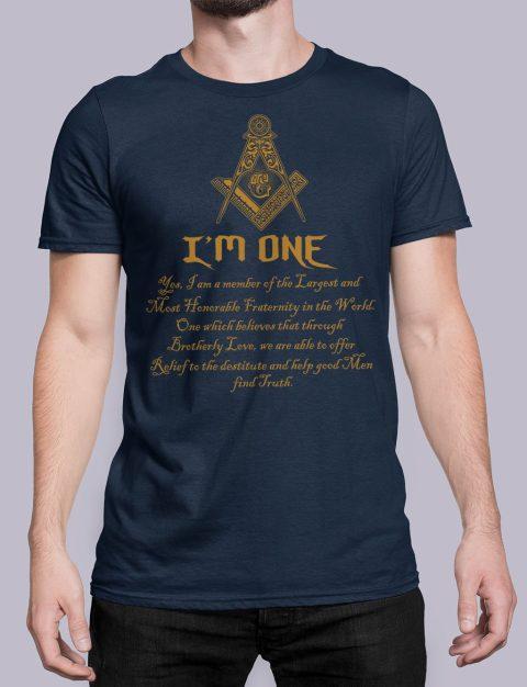 I Am One Masonic T-Shirt mason i am one navy shirt 21