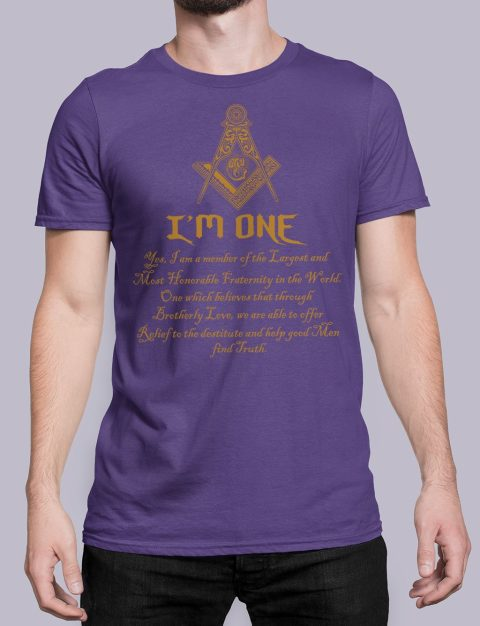 I Am One Masonic T-Shirt mason i am one purple shirt 21