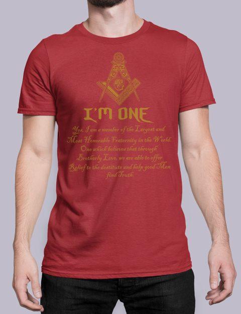I Am One Masonic T-Shirt mason i am one red shirt 21