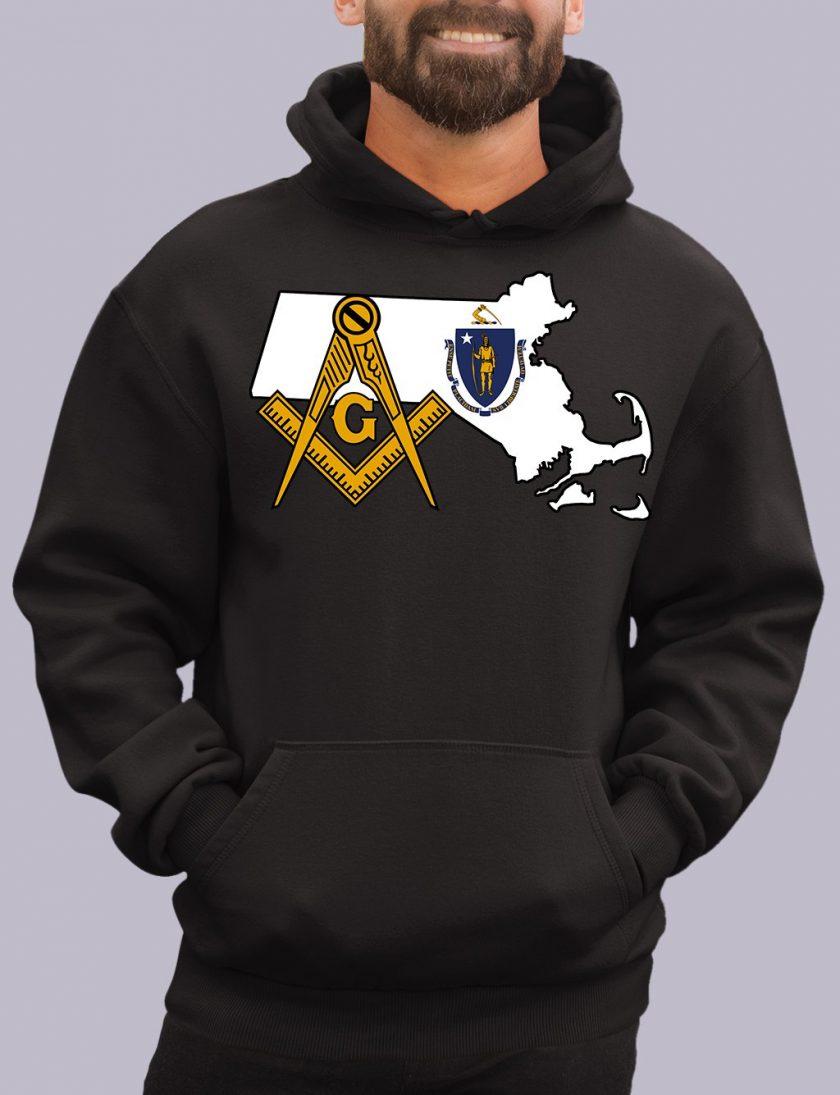 massachuset black hoodie