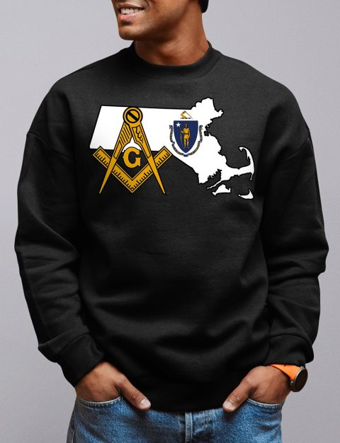 Massachusetts Masonic Sweatshirt massachusetts black sweatshirt
