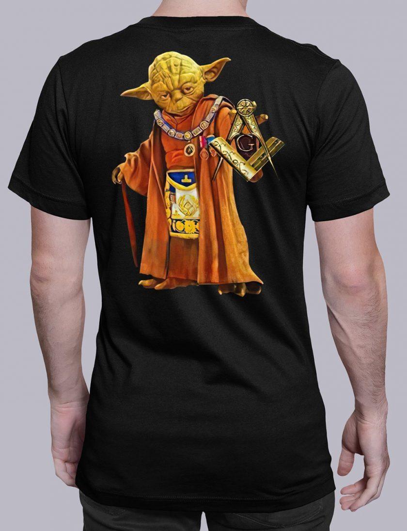 master Yoda back masonic t shirt black