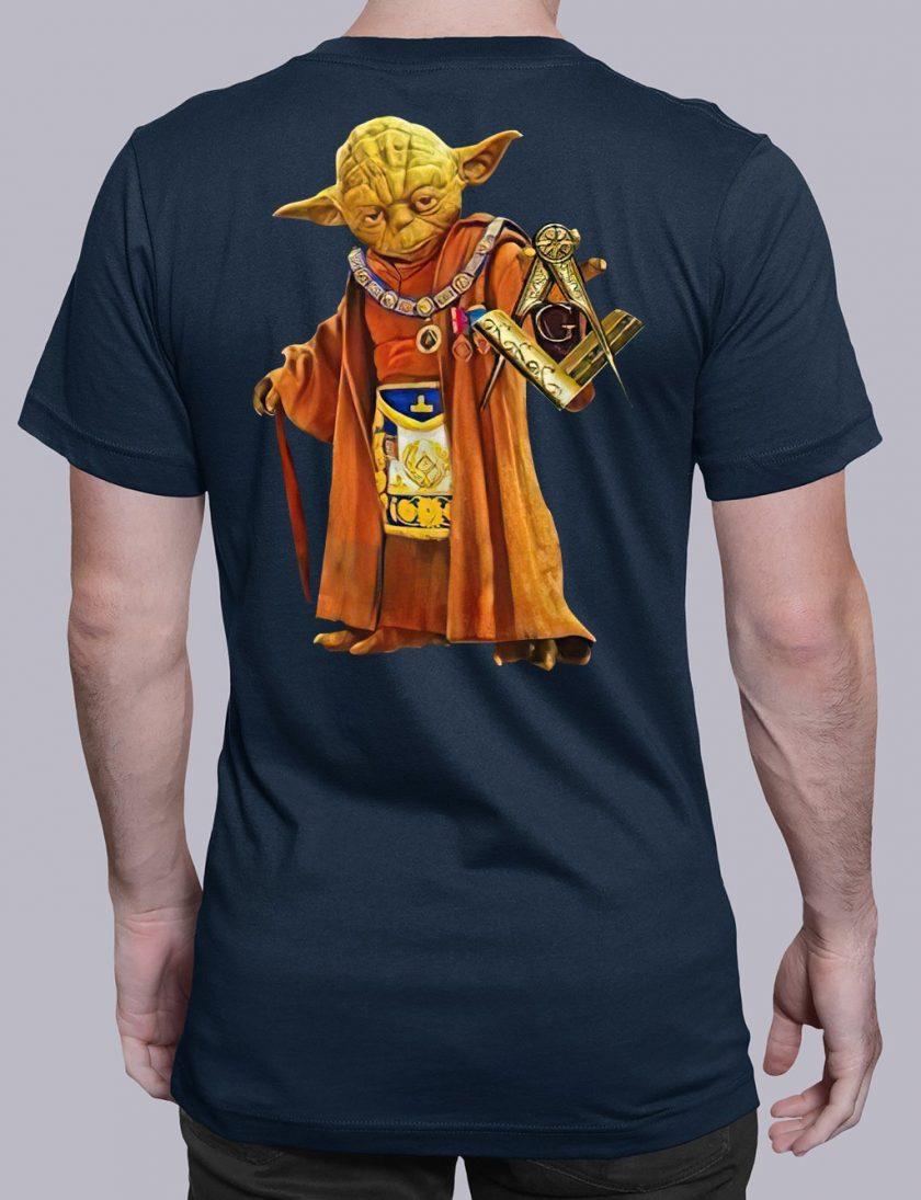 master Yoda back masonic t shirt navy