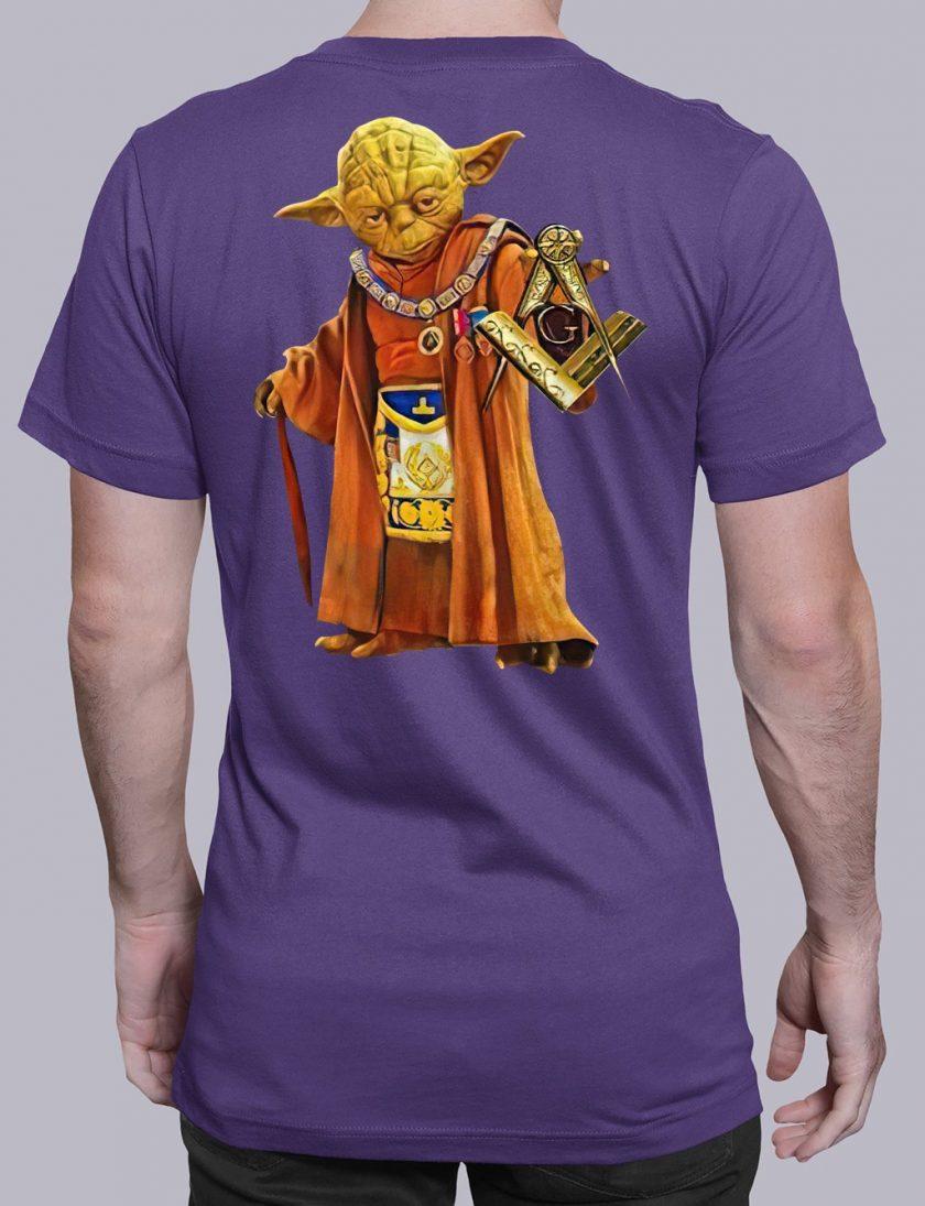master Yoda back masonic t shirt purple