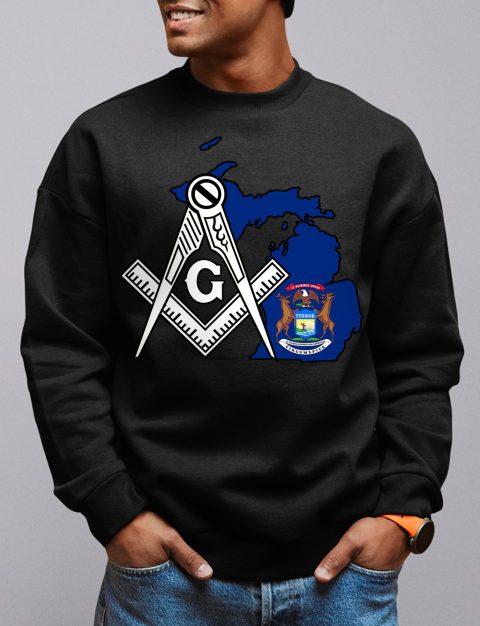 Michigan Masonic Sweatshirt michigan black sweatshirt
