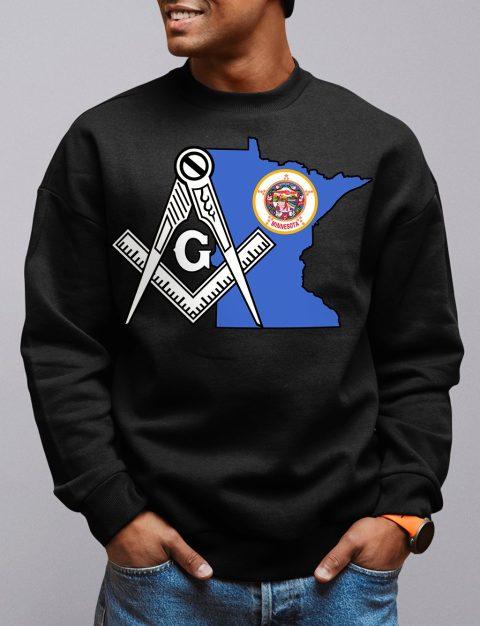 Minnesota Masonic Sweatshirt minetsota black sweatshirt