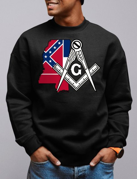 Mississippi Masonic Sweatshirt mississippi black sweatshirt