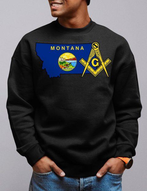 Montana Masonic Sweatshirt montana black sweatshirt