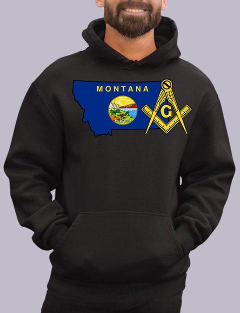 Montana Masonic Hoodie motana black hoodie