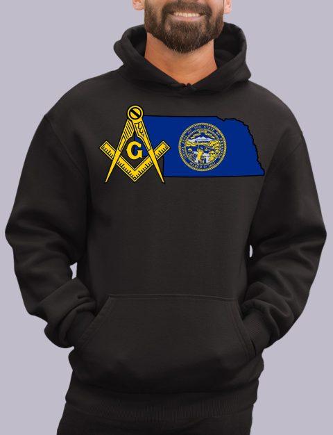 Nebraska Masonic Hoodie nebraska black hoodie