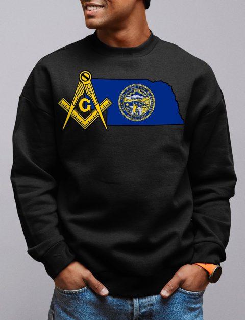 Nebraska Masonic Sweatshirt nebraska black sweatshirt