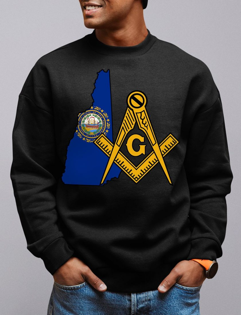 New Hampshire Masonic Sweatshirt new hampshire black sweatshirt