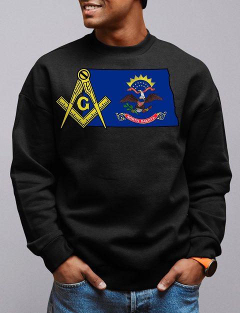 North Dakota Masonic Sweatshirt north dakota black sweatshirt