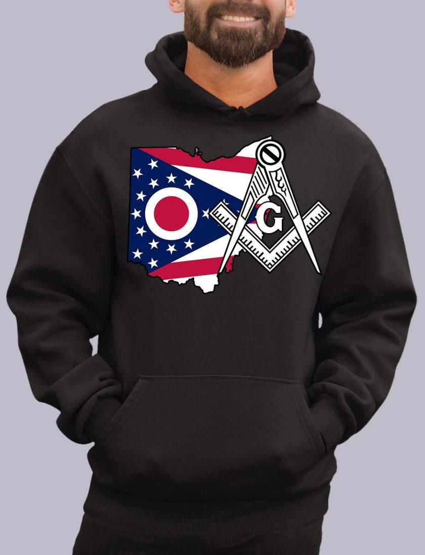 ohio black hoodie