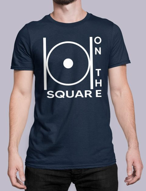 On The Square Masonic T-Shirt on the square navy shirt