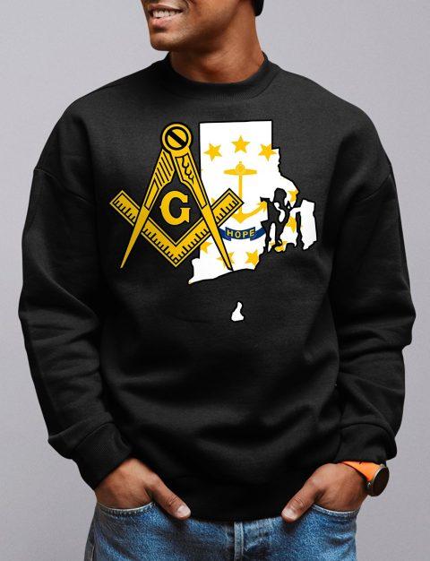 Rhode Island Masonic Sweatshirt rhode island black sweatshirt